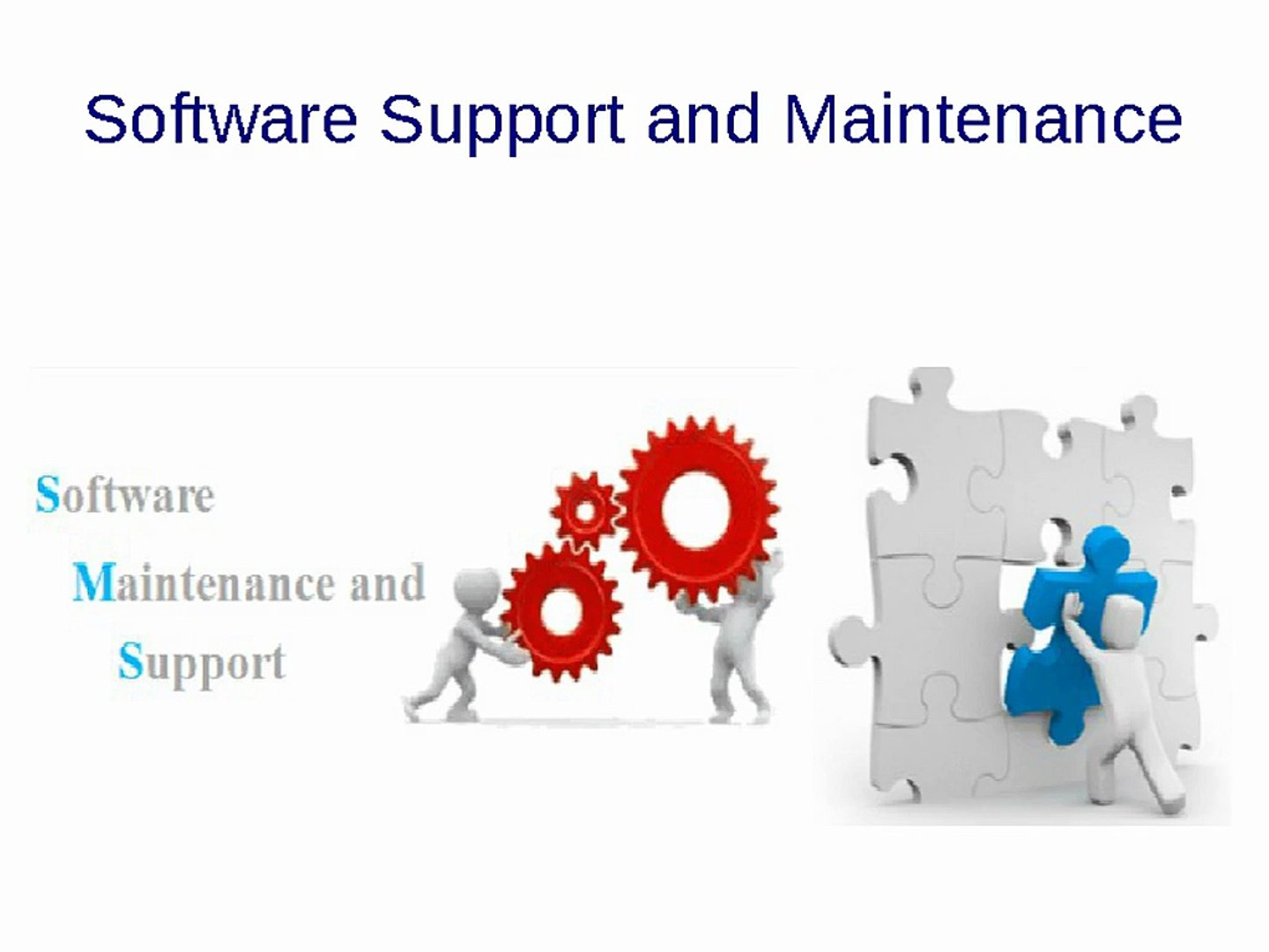 Sfotware Support and maintanance
